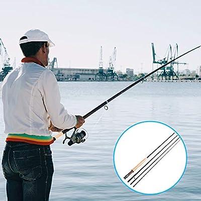 4 Unidades, Fibra de Carbono Ca/ña de Pescar Mounchain