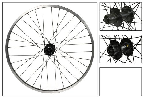 Wheel Set 26 x 1.5 Sun RhynoLite, Blk, Deore M525 Disc 9Sp, 2.0 Blk SS Spokes, (Blk Spoke)