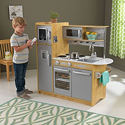KidKraft 53298 Uptown Natural Kitchen, 43.00 x 17.75 x 41.00 Inches: Toys & Games