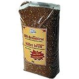 Gesund + Leben Braunhirse ganze Körner 1000g (bio, roh, vegan) Saat Samen