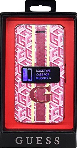 Guess G-CUBE Sammlung Booktype-Hülle für Apple iPhone 6/6S (12,4 cm (4,7 Zoll)) rot