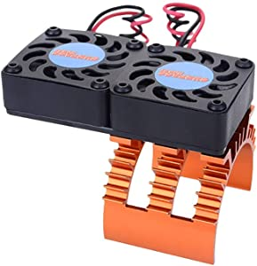 Surpass Hobby 2 Cooling Fan Motor Heat Sink System RC Motor Fan for 1/10 HSP RC Car Motor