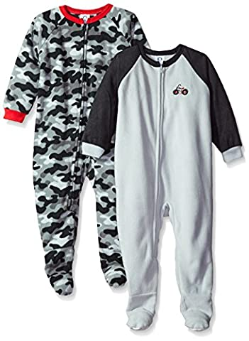 Gerber Baby Boys' Little 2 Pack Blanket Sleepers, Motorcycle, 6-9 Months - Baby Boy Pajamas