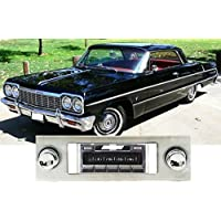 1963-1964 Chevy Impala, Caprice USA-630 II High Power 300 watt AM FM Car Stereo/Radio with iPod docking cable