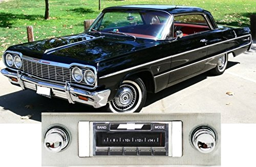 1963 Vintage Port (1963-1964 Chevy Impala, Caprice USA-630 II High Power 300 watt AM FM Car Stereo/Radio with iPod docking cable)