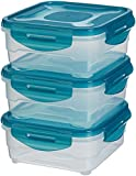 AmazonBasics Air-Locked 3-Piece Food-Storage Set, 3 x 0.80 Liter