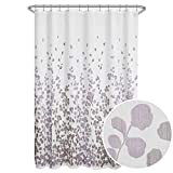 Purple Shower Curtain Maytex Sylvia Printed Faux Silk Fabric Shower Curtain, Purple