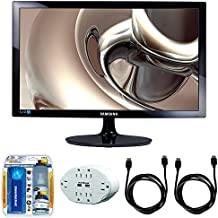 "Samsung SD300 23.6"" Screen LED-Lit Monitor (S24D300HL) with 2x General Brand HDMI to HDMI Cable 6', Xtreme 6 Outlet Wall Tap w/ 2 USB Ports White & Xtreme Performance TV/LCD Screen Cleaning Kit"