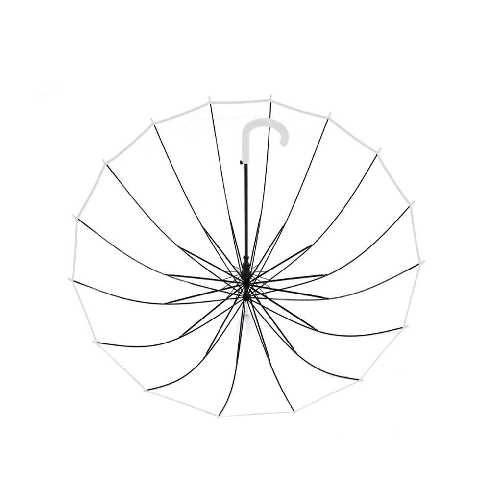 Lanker Parapluie Clair De Bulle Grande Ouverture Automatique De Coupe-Vent De 16 C/ôTes De Fibre De Verre Voient Voir KS10Black