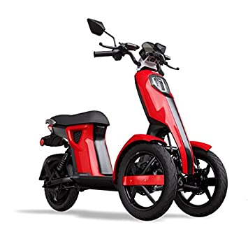 iTango Scooter electrico Adulto Innovative Design - Patinete eléctrico con Tres Ruedas USB, Bluetooth APP (hasta 45 km/h) Rojo: Amazon.es: Deportes y aire ...