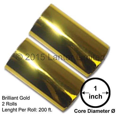 Hot Stamp Foil Stamping Tipper Kingsley 2 Rolls 3'x200ft Brilliant Gold