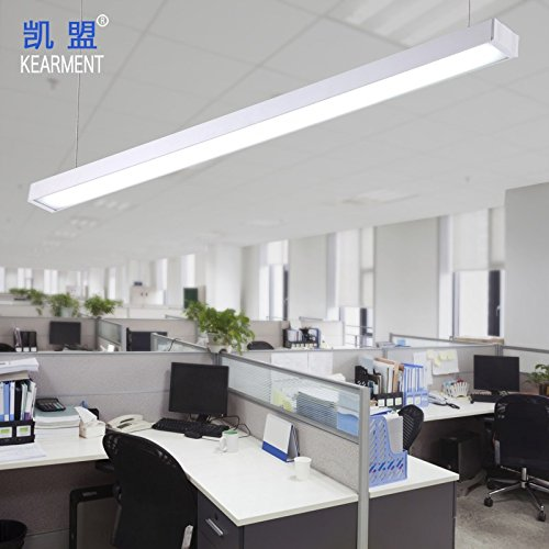 BGmdjcf Minimalist Aluminum 5 Chandeliers Office Building Works Lighting Ceiling Light Straight Edge Led Long Suspension Lights , Silver Suspended 1.20.07 M 5200