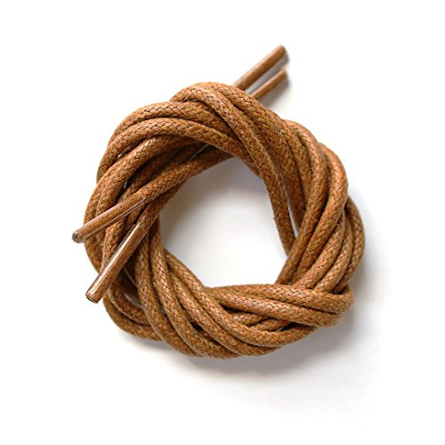 Waxed Cotton Oxford Shoelaces × Unbranded, Unlimited (32 (81cm), Tan)