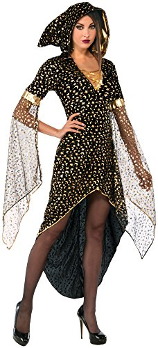 Forum Novelties Women's Golden Sorceress Costume, Black/Gold, Standard