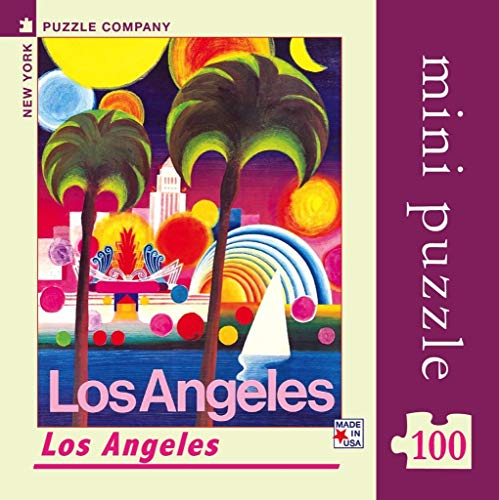 New York Puzzle Company - American Airlines Los Angeles Mini - 100 Piece Jigsaw Puzzle