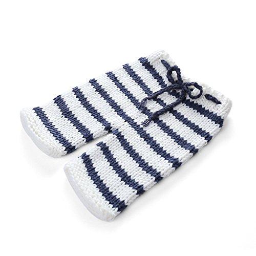 Accessoires HUPLUE Neugeborene Baby Fotografie Requisiten gestrickt gehäkelt gestreift zweiteiliges Gap Hose Kostüm Outfit Set