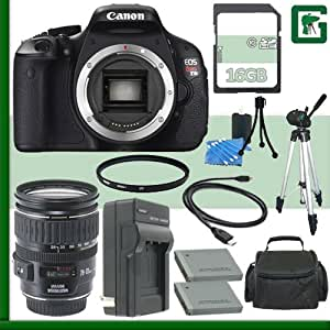 Canon EOS Rebel T3i Digital SLR Camera and Canon 28-135mm Lens + 16GB Green's Camera Package 1