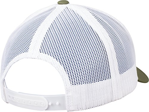 2 buck Gris 6606T de Tonos Talla Unisex Blanco única White Flexfit Gorra Oscuro Retro aq4nxtt7