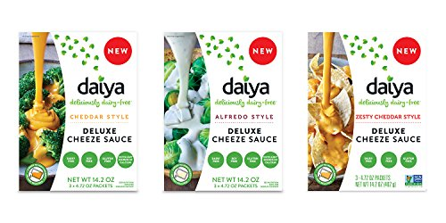Daiya Cheeze Sauce Variety Pack :: Cheddar, Alfredo & Zesty Cheddar :: Vegan, Dairy Free, Gluten Free, Soy Free, Rich Cheesy Flavor (3 Pack)