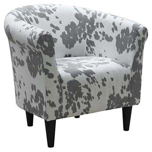 Cowhide Silver Savannah Club Chair (Savannah Club Chair)