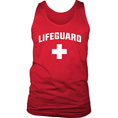 b4a36813e1ed5 Official Lifeguard Tank Top Shirt Lifeguard Apparel Red or Blue Mens at  Amazon Men s Clothing store