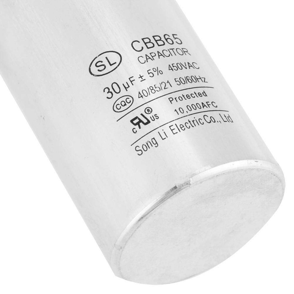 60Hz condensateurs cylindriques /à AC 450 V pour le r/éfrig/érateur de moteurs de climatisation 50 30 uF CBB65A-1 Condensateur de moteur