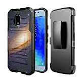 Capsule Case Compatible with Samsung Galaxy J3 2018 (J337) J3 Star, Amp Prime 3, Express Prime 3, J3V, J3 Eclipse 2, J3 Achieve, Sol 3, J338 [Kickstand Holster Case] - (Space Milkyway)