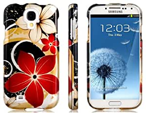 PC Plastic Double-Side Painting Bauhinia Protective Case for Samsung Galaxy S4 I9500