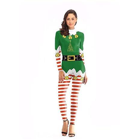 YANKAN Traje De Navidad Mujer,Disfraces De Fiesta De ...