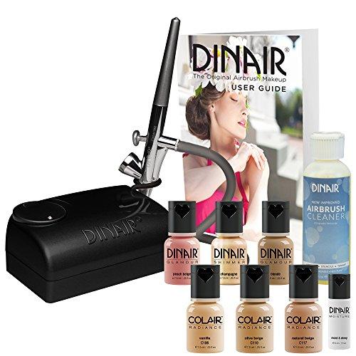 The Original: Dinair Airbrush Makeup Starter Kit | Fair Shades | Foundation Set! by Dinair Airbrush Makeup