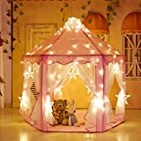HZGOTech Kids Play Tent Toy Princess Tent Girls Large Playhouse, Kids Castle Play Tent for Kids Boys and Girls for Children Indoor and Outdoor Games, 55'' x 53'' (DxH)