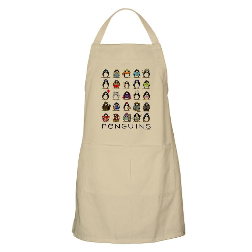 CafePress - Lots Of Penguins BBQ Apron - Kitchen Apron with Pockets