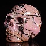 "Mineralbiz 1.3"" - 1.5"" Natural Rhodonite Crystal Gemstone Human Skull Head Carving Sculpture"
