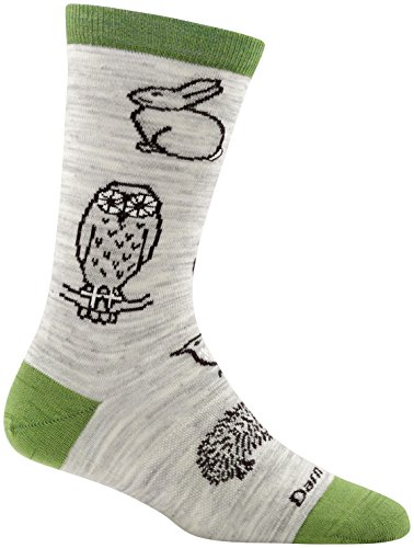 (Darn Tough Woodland Creatures Crew Light Sock - Women's Ash Large )