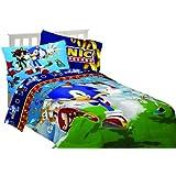 Sega Sonic The Hedgehog Sonic Speed 64 by 86-Inch Microfiber Comforter, Twin
