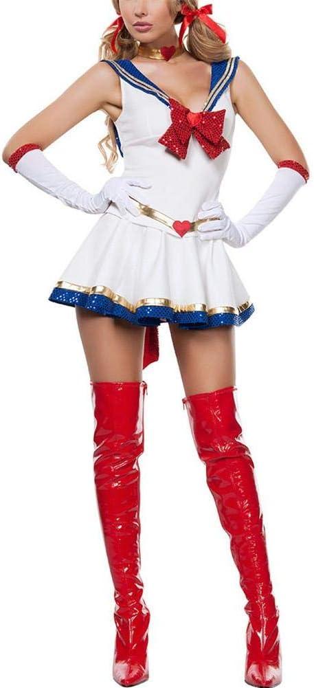 LiféUP Damas Adultos Disfraces Cosplay Sailor Moon Vestido de ...