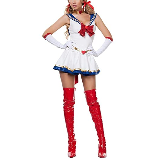LiféUP Damas Adultos Disfraces Cosplay Sailor Moon Vestido ...