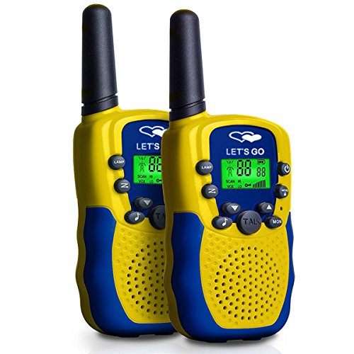 Walkie Talkies for Kids Boys Girls, Ouwen Long Range Walkie Talkies for Kids Popular Hottest Outdoor Toys for 3-12 Year Old Boys Girls Presents Gifts for 3-12 Year Old Boys Girls Yellow Blue OWUSDD09 by Ouwen