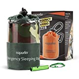 ROPODA Emergency Sleeping Bag Survival Bivy Sack - Use as Emergency Bivy Sack, Survival Sleeping Bag, Mylar Emergency Blanket-Includes Stuff Sack with Survival Whistle(Camouflage Color)