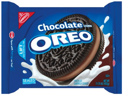 Oreo Chocolate Creme Oreo Cookie, 15.25-Ounce Packages (Pack of 4)