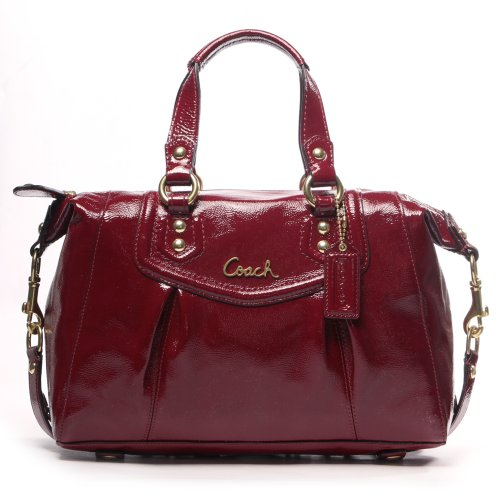 Coach Ashley Crimson Patent Leather Satchel Handbag F20460