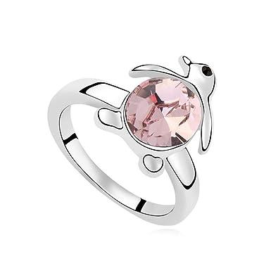 Amazon Com Epinki Gold Plated Ring Womens Wedding Bands Penguin