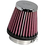 K&N RC-1060 High Performance Universal Clamp-on Chrome Air Filter