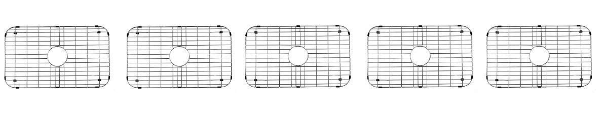 VIGO Stainless Steel Bottom Grid, 26-in. x 14.375-in. (5-(Pack))