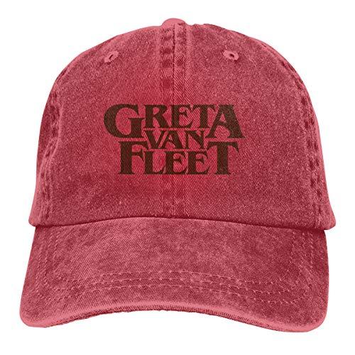 Campus Adjustable Gold Hat - Hip Hop Greta Van Fleet Old Gold Logo Adjustable Cowboy Cap Denim Snapback Hat for Women Men