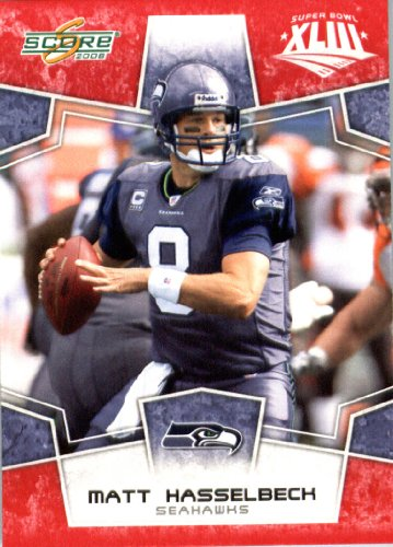 280 Matt (2008 Score Red SuperBowl Edition NFL Football Card (only 2400 made) - #280 Matt Hasselbeck QB - Seattle Seahawks)