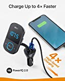 Anker Roav SmartCharge T1, Bluetooth FM Transmitter for Car, Audio Adapter and Receiver with Big LED Display, PowerIQ 2.0, Hands-Free Calling, and AUX Output, Compatible with Quick Charge 3.0 Devices