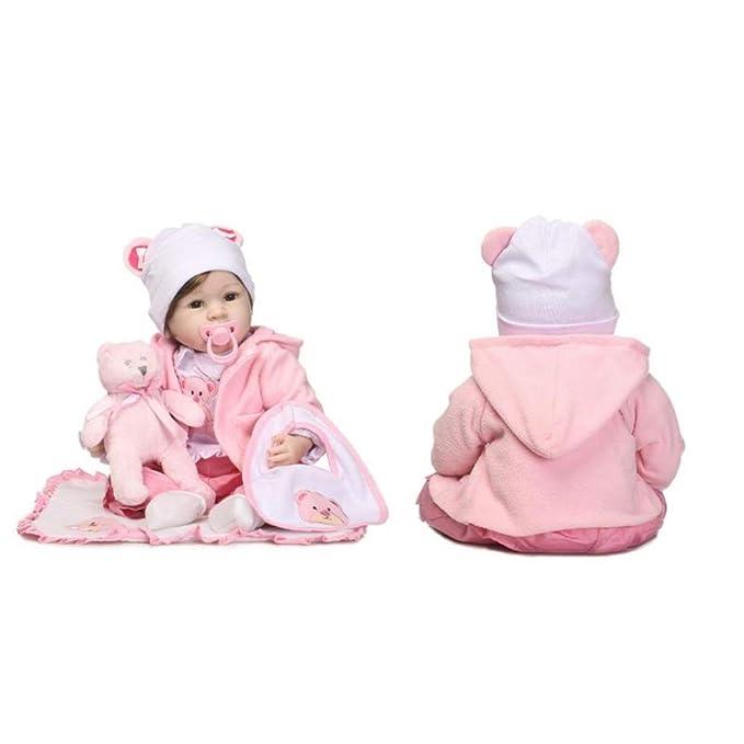 Amazon.com: HUAXING - Muñeca de silicona para bebé con ...