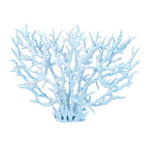 (NszzJixo9 Artificial Aquatic Plants, Aquatic Landscape Soft Coral Blue/Pink, Fish Tank Decoration Plastic - Vivid Simulation Plant Creature Aquarium Landscape (L, Blue))