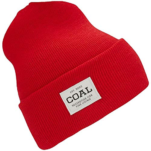 Coal Men's The Uniform Fine Knit Workwear Cuffed Beanie Hat, red, ()